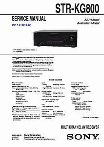 Sony Ht-ddwg800  Str-kg800 Service Manual