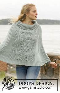 Knitted Drops Poncho With Cables And Leaf Pattern In  U201dkarisma U201d  Size  S