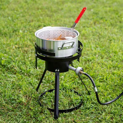 fryer fish propane outdoor pot gas basket stove cooker chicken fries wings stand deep qt aluminum gourmet kit lp pro