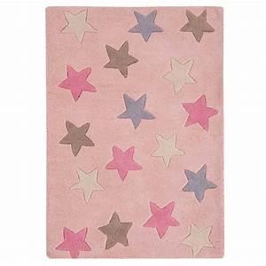 tapis moderne de chambre etoile rose en coton With tapis chambre bébé avec livraison roses Ï domicile
