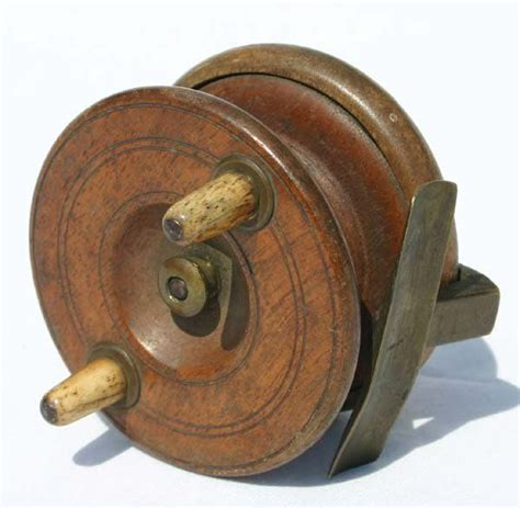 antique wooden fishing reels aquamarine