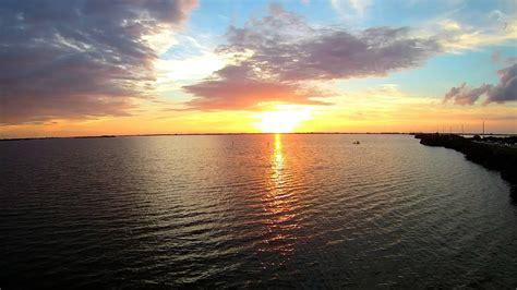 Cocoa Beach Banana River Sunset Aerial Video Youtube