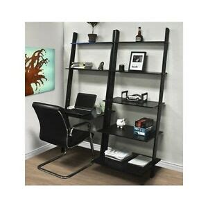 Leaning Desk Bookcase by Leaning Shelf Bookcase Computer Desk Office Furniture Home
