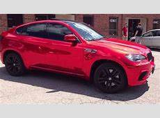 Red Chrome BMW X6M Restyle It Wrapped to Perfection