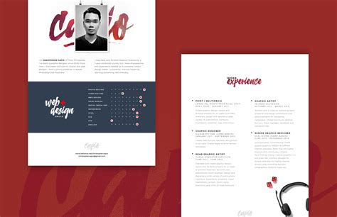 Photoshop Resume Template Free by Web Designer Resume Template Free Psd Psd