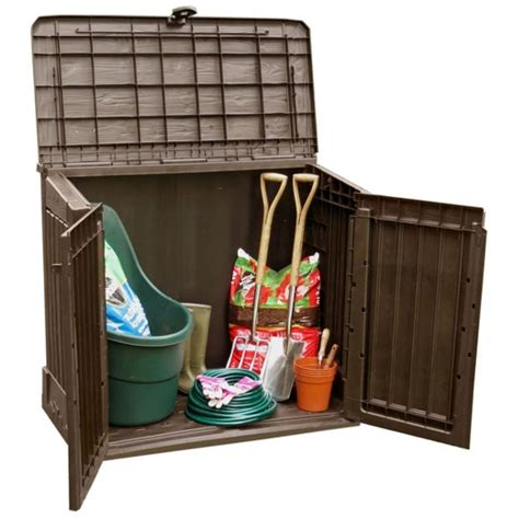 keter woodland storage box buy keter woodland midi store it out shed at argos co uk