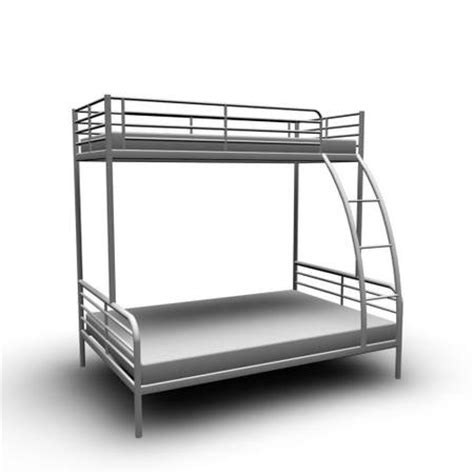 ikea tromso bunk bed twin and full size grey all metal