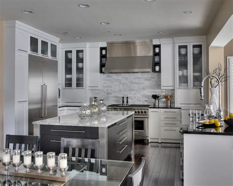 Contemporary White Kitchen Remodel Contemporary