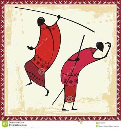 Masai African Warriors Illustrations Clipart Illustration Grunge