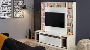 Meuble Tele Avec Rangement : meuble tele avec rangement meuble de tv d angle trendsetter ~ Teatrodelosmanantiales.com Idées de Décoration