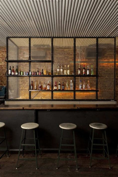 unique bar textured industrial ceiling metal wood simple finishes love