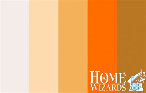 color palette vibrant vintage orange home wizards