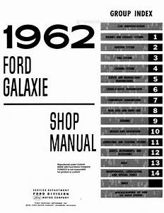 Ford Galaxie  Galaxie 500  Station Wagons Shop Manual 1962