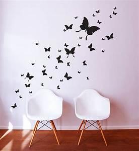 Wandtattoo Kinderzimmer Schmetterlinge : die besten 25 wandtattoo schmetterling ideen auf pinterest 3d wandtattoo scherenschnitt ~ Sanjose-hotels-ca.com Haus und Dekorationen