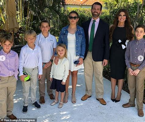 trump jr girlfriend children donald kimberly guilfoyle his don son wife barron melania vanessa thanksgiving sons ivanka marriage lago mar