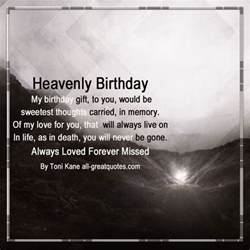 heaven birthday wishes for loved ones living on in heaven