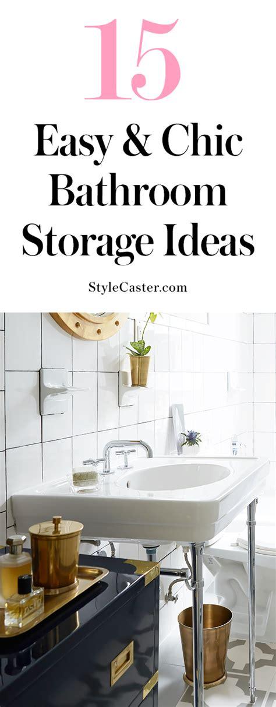 Easy Bathroom Ideas by 15 Easy Bathroom Storage Ideas That Don T Scream Diy