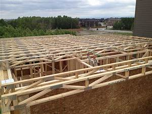 Net zero house in northwest calgary day 8 for Open web floor trusses