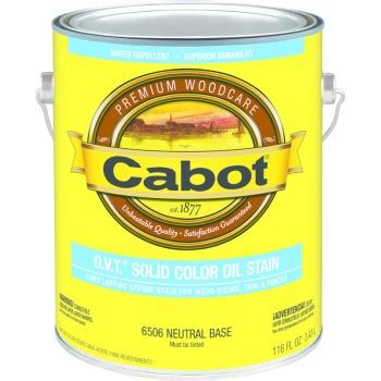 buy  cabot   ovt solid color oil stain neutral