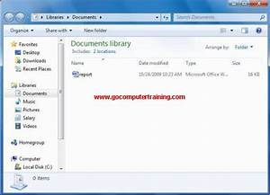 Windows 7 windows explorer change the display sort and for Documents to go windows desktop