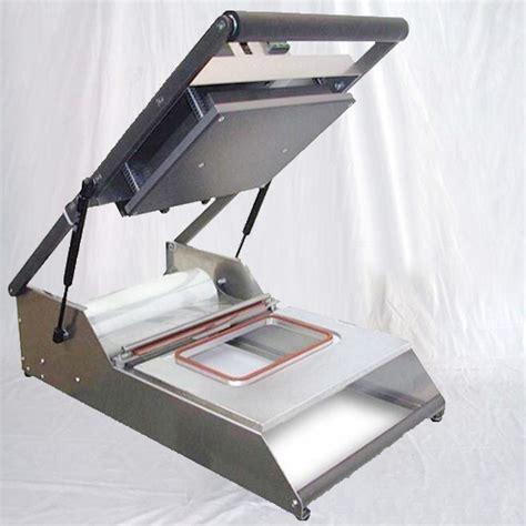 manual tray sealing machine heat sealer equipment semi automatic food boxes bowls seal tabletop