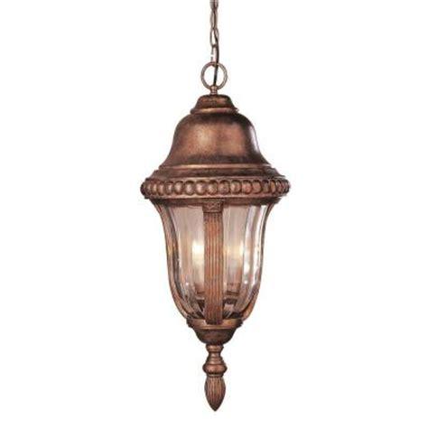 home depot outdoor hanging lights bel air lighting 3 light antique bronze outdoor hanging