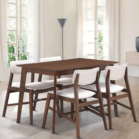 gymax  pcs mid century modern dining table set kitchen