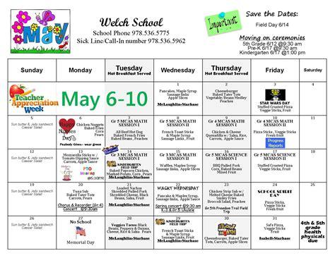 welch school calendar peabody public schools