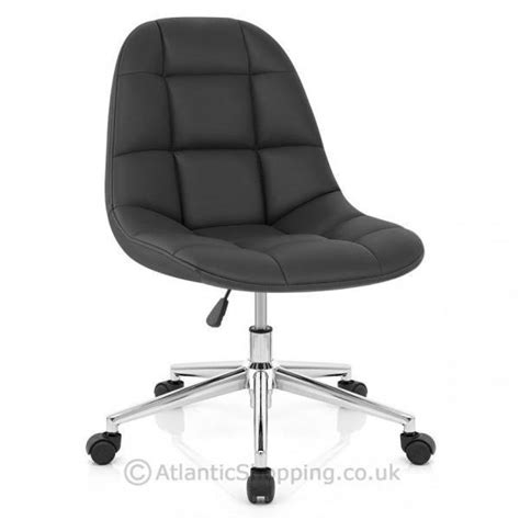 rochelle padded faux leather chrome with wheels office
