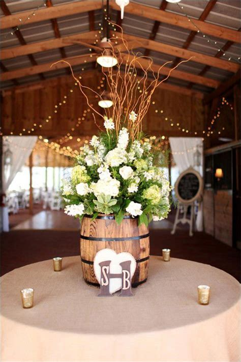 Ideas To Incorporate Wine Barrels In Rustic Wedding