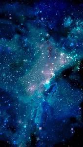 Blue galaxy wallpaper for iPhone 5   phone stuff ...