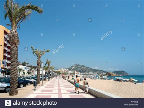 Main Beach And Seafront Promenade In Blanes Costa Brava