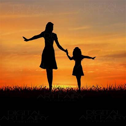 Daughter Mother Daughters Strong Silhouette African American