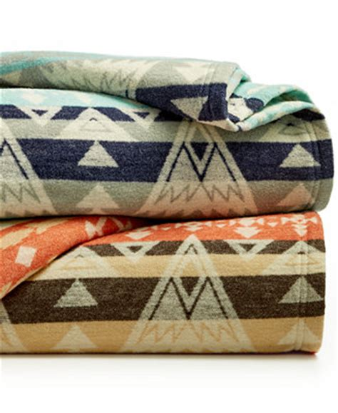 pendleton closeout cotton jacquard high peaks blankets
