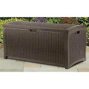suncast patio furniture cushions suncast mocha wicker resin deck box outdoor patio cushion