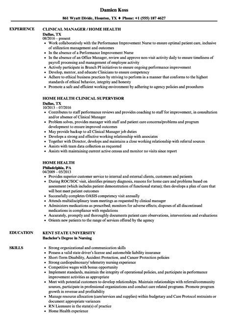 Home Health Resume by Home Health Resume Sles Velvet