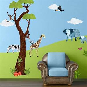 safari wall decals tktb With fantastic jungle theme wall decals for kids room