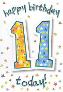 boys 11th happy birthday card 11 today male - 2 x cards to ...