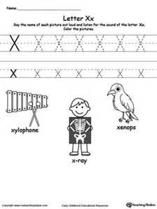 printable alphabet flash cards for preschooler letter x