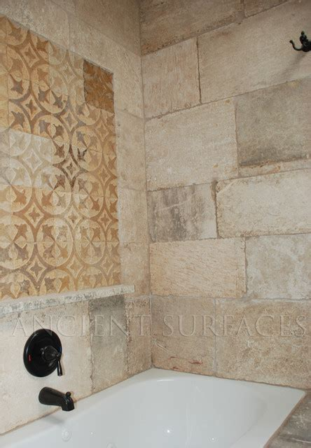 antique bathrooms shower walls and decorative carved tiles
