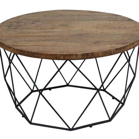 Household essentials grey top black frame ashwood round coffee table. Round Wooden Coffee Table with Geometric Cutout Iron Base, Black and Brown 842081040786   eBay