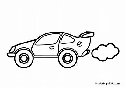 Coloring Pages Transportation Cars Printable Speed Sheets