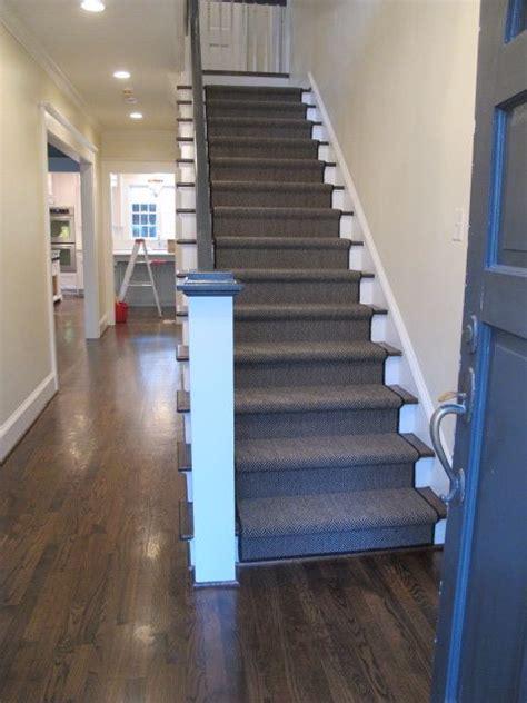 hardwood floors with carpet stairs herringbone carpet runner home ideas pinterest