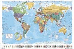 Carte Du Monde à Gratter Maison Du Monde : carte politique du monde poster affiche acheter le sur ~ Teatrodelosmanantiales.com Idées de Décoration