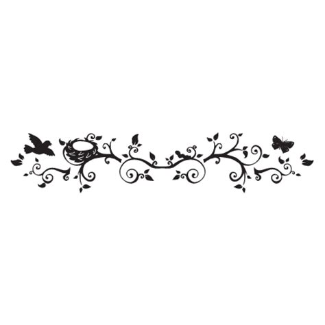 bird nest butterfly floral design wall quotes wall art