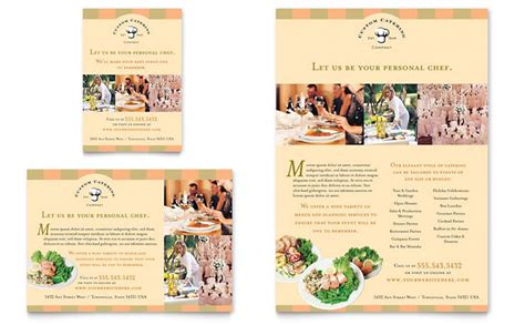 catering company flyer ad template word publisher
