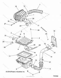 Polaris Side By Side 2016 Oem Parts Diagram For Engine Air