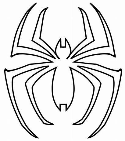 Spiderman Symbol Coloring Pages Printable Getcolorings Col