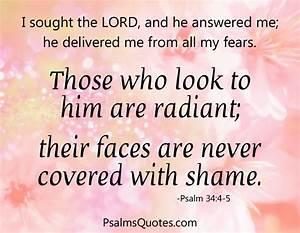 Psalm 34:4-5 - Inspirational Psalm - Bible Verse