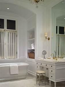white bathroom interior design luxury interior design With classic bathroom design